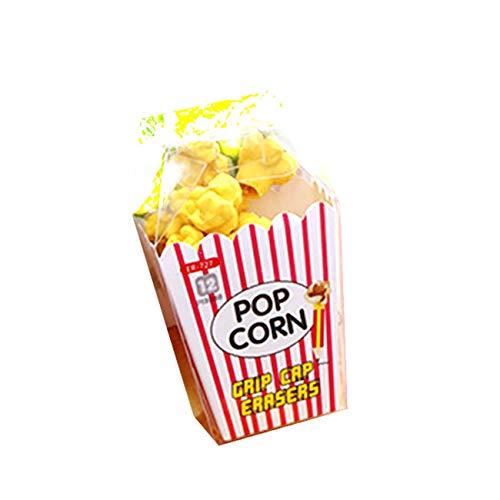 1 PC Hot Kawaii Popcorn En caja Borrador Modelado Borradores Útiles escolares Sándwich Rosa Azul Negro Postre Estilo Goma - Amarillo