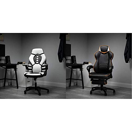 RESPAWN Skull Trooper-V Fortnite Gaming Reclining Ergonomic Chair (TROOPER-01) & Omega-Xi Fortnite Gaming Reclining Ergonomic Chair with Footrest (OMEGA-02)
