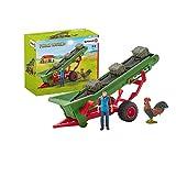 Schleich 42377 Farm World Spielset - Heuförderband mit Bauer, Spielzeug ab 3 Jahren