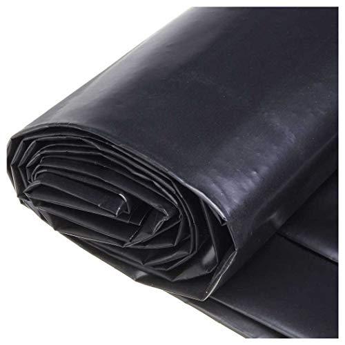 Revestimiento para Estanques con Capa Base para Estanques, Estanque de Lámina de PVC 4x9M 4x5M de Negro Revestimiento para Estanque, Revestimiento de Membrana para Estan(Size:4x3M(13x10ft),Color:20S)