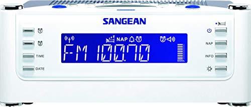 Sangean RCR-22 Radiowecker (UKW/MW-Tuner, Dual-Alarm, Sleep/Nap-Timer, AUX-In) weiß