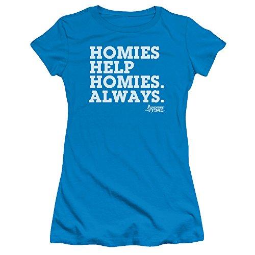Adventure Time - - Junge Frauen Homies Help Homies T-Shirt, Large, Turquoise