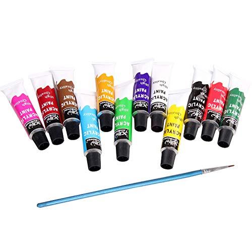 Conjunto de 12 Tubos de Tinta à Óleo para Pigmentos, 12 ml