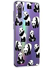 Oihxse Cristal Compatible con Xiaomi Mi 9T/Mi 9T Pro Funda Ultra-Delgado Silicona TPU Suave Protector Estuche Creativa Patrón Panda Protector Anti-Choque Carcasa Cover(Panda A6)