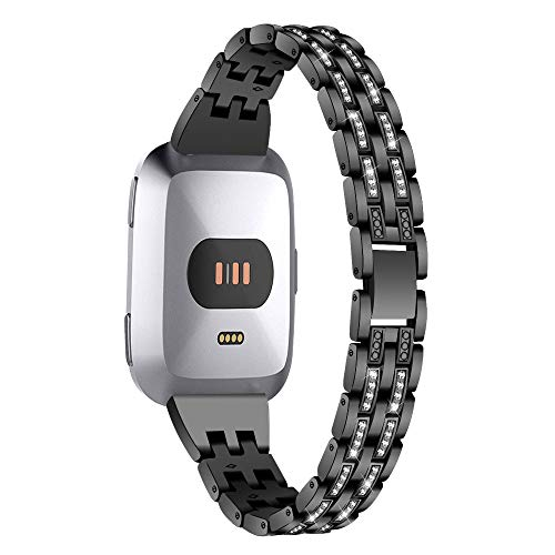 Buy Bargain Compatible With Fitbit Versa 2, KingTo Stainless Steel Watchband Replacement Lady Watch ...