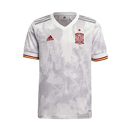 adidas Selección Española Temporada 2020/21 Camiseta Segunda equipación, Unisex, White/LGH Solid Grey, 176