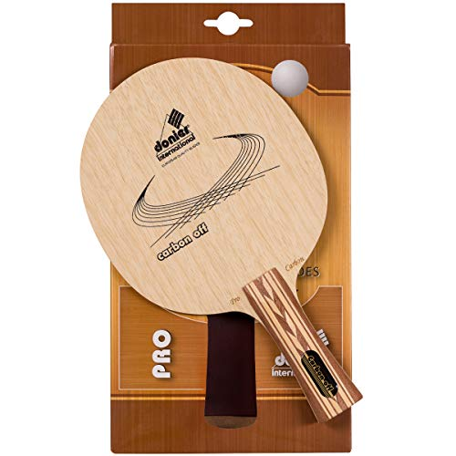 Donier Table Tennis Blade Carbon Offensive | European-Made Ping Pong Blade, Table Tennis Paddle | 7 Layer Base for Superior Speed, Control, Strategic Attacks | Indoor, Outdoor Use (Concave)
