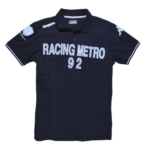 Rugby Polo-Shirt–Offizielle Kollektion–Racing Metro 92–Kappa–Top 14–Erwachsene und Kinder-Größe, marineblau, M