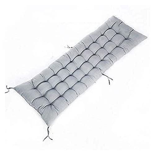 YWJFASHION Cojín de Banco Grueso Alto algodón Suave elástico Esponja cálida para reclinadores de Banco al Aire Libre Interior, Antideslizante con Corbatas de fijación Reclinador de Asientos