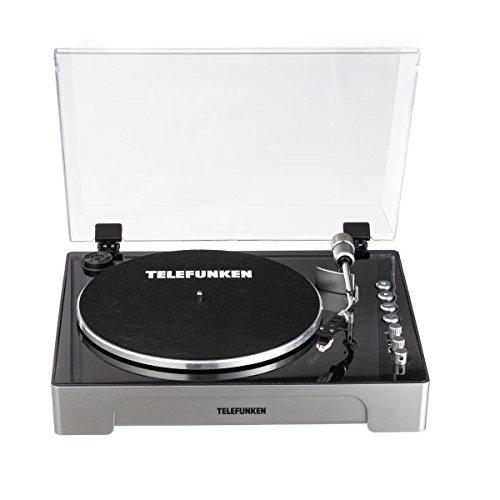 TELEFUNKEN TT200 | Professional Turntable | Plattenspieler | Digitale Fernbedienung | inkl. Ersatznadel | 2 Geschwindigkeitsstufen
