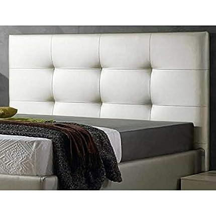 ED Cabecero Cama tapizado Polipiel Mod. Texas Todas Las Medidas y Colores (Blanco, 150 * 70)
