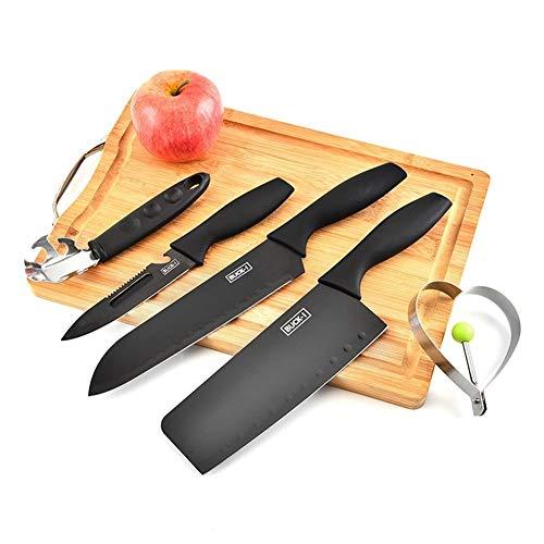 5pcs Antihaft-Edelstahl-Küchenmesser Set Kochmesser-Set mit schwarzer Beschichtung (Color : 5pcs Kitchen Knife Set)