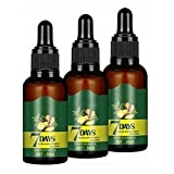 Aoulg 3pcs 7 Day Herb Germinal Serum, Ginger Germinal Essential Oil, Promotes Thicker Hair Regrowth Growth Serum