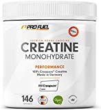 ProFuel Creatin Monohydrat Pulver (100% Creapure®, dem Premium Creatin aus Deutschland), 500g | Extra hochdosiert für Fitness & Kraftsport | Hochwertiges Kreatin made in Germany, 100% vegan KRAFTSCHUB -