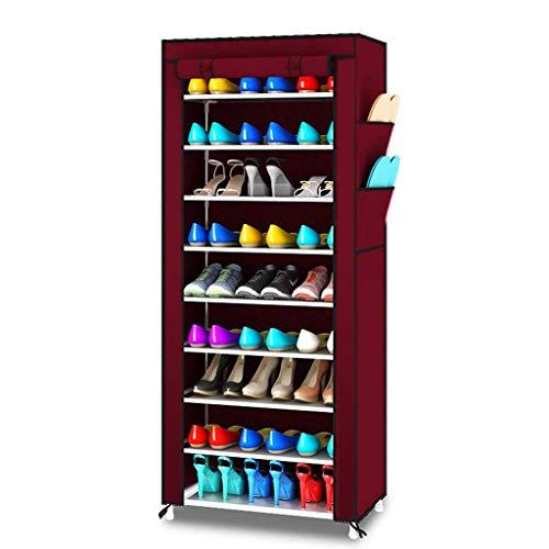 SHBV Zapatero Zapatero Multicapa Ensamblaje de Tela no Tejida a Prueba de Polvo Gabinete para Zapatos Gabinete de Almacenamiento Soporte para Ahorro de Espacio Gabinete para Zapatos Gabinete para