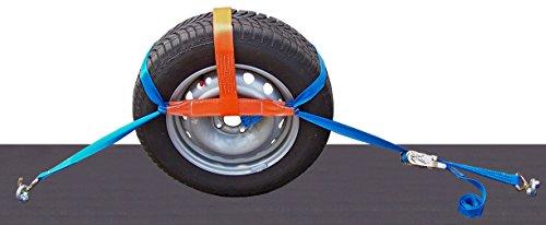 SHZ 4X Spanngurt Auto Transport Zurrgurt Radsicherung PKW KFZ Trailer Reifengurt (4)