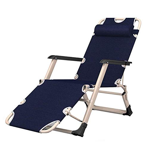 WGFGXQ Upgraded Heavy Duty Zero Gravity Chair with Square Legs & Headrest, Folding Adjustable Portable Lounge Recliner for Office Patio Beach Pool Side Sports Camping, Support 440lbs