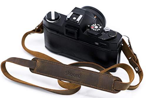 skaard Kameragurt ⎪Echtleder⎪Vintage | Schnellverschluss | Geschenkbox