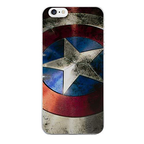 iPhone 5/5s Cómic Carcasa de Telefono / Cubierta para Apple iPhone 5s 5 SE / Protector de Pantalla y Paño / iCHOOSE / Capitán América Escudo