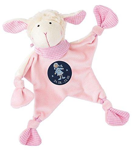 sigikid, Mädchen, Schnuffeltuch, Schaf mit Sternzeichen Jungfrau, Rosa, 48821
