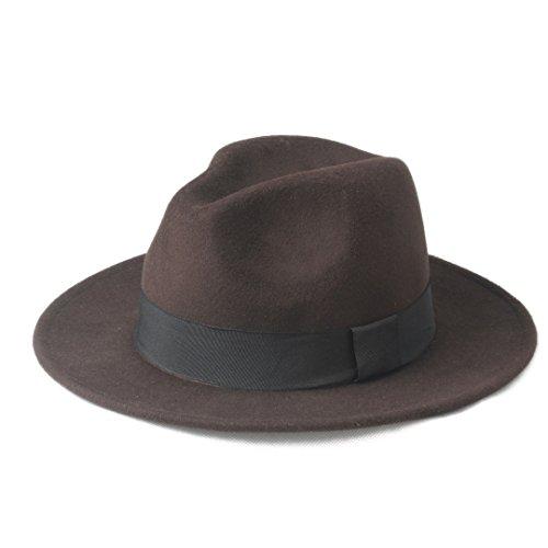 Liyuzhu Sombrero de ala ancha de la iglesia del jazz de los sombreros del borde de los hombres de las mujeres del nuevo diseño Sombrero de copa de Panamá Chapeu Feminino Fedora Sombrero para el caball