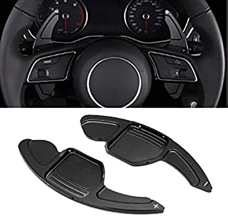 Maple leave Steering Wheel Shift Paddle For Audi A3 A4L A5 A6L A7 A8 S3 S5 S6 Q3 Q5 Q7 TT TTS(black)
