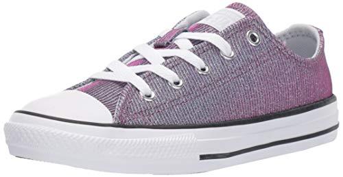 Converse Girls' Chuck Taylor Space Star Sneaker, Pure Platinum/Silver/White, 4 M US Big Kid