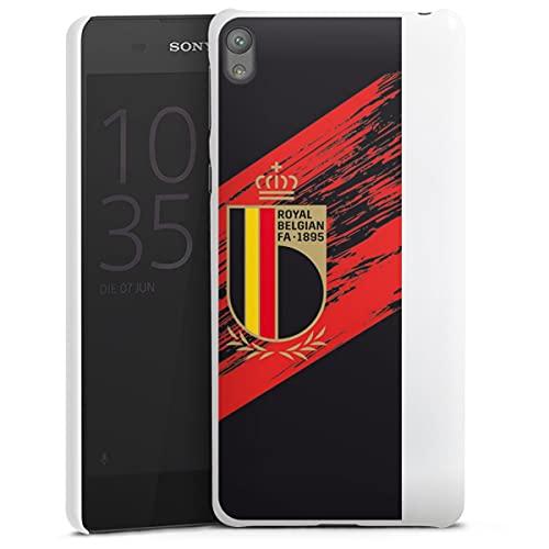 DeinDesign Hard Hülle kompatibel mit Sony Xperia E5 Schutzhülle weiß Smartphone Backcover Trikot RBFA Offizielles Lizenzprodukt