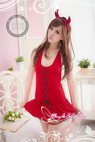 MEN.CLOTHING-LEE Corsés para Mujer Conjuntos de lencería para Mujer Disfraz de Navidad Uniforme Europeo Fiesta de Disfraces Vestido de Navidad Caperucita Roja Disfraz de Bruja Sexy Navidad 2060-Rojo