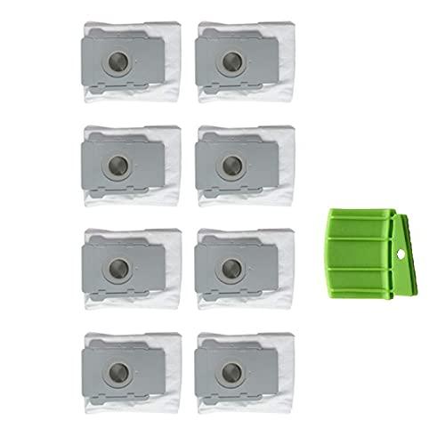 Piezas de repuesto para aspiradora IRobot Fit para Roomba I7 / I7+S9 E5 E6 Plus Robot Partes de aspirador piezas de repuesto bolsa de polvo HEPA filtro bolsas polvo Baffle aspirador accesorios