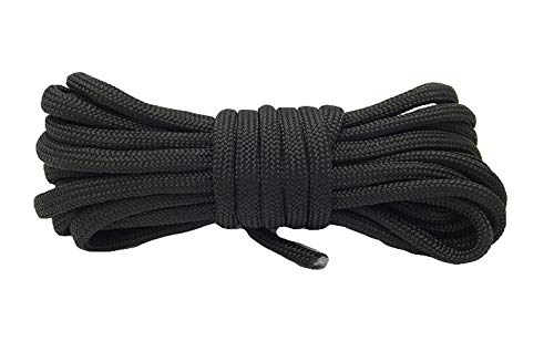 Achort 10 pcs Paracord Bracelet Rope, Colorful Parachute Cord, Outdoor Survival Rope Set, DIY Manual Braiding 10 Feet with Buckles & Carabiner and Key Rings
