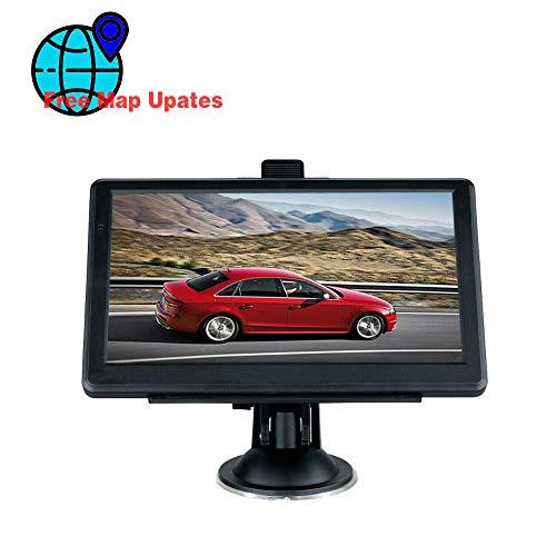 KKZZZ Navegación GPS para automóvil, 7 Pulgadas 8 GB - 256 MB de navegación satelital GPS, Mapa de Europa (actualización de por Vida), con Anuncio de Voz y Montaje en Soporte