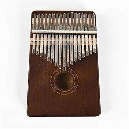 Kalimba, Daumenklavier 17 Keys Kalimba Pine Wood Daumen-Klavier-Tastatur-Musikinstrument mit Lernbuch Tune Hammer Geschenk for Kinder und Anfänger