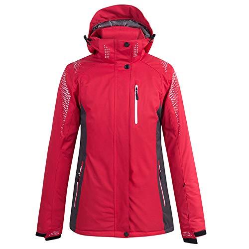 YRFDM Combinaison de Ski,Veste de Ski Couple Veste de Ski imperméable épaissir Chaud Hommes Femmes Ski Vestes d'hiver Unisexe Manteau de Ski Manteau de Snowboard, Rouge, m