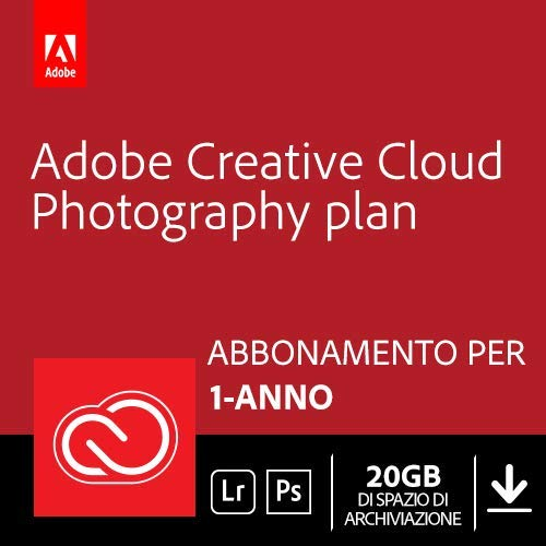 Adobe Creative Cloud Photography Plan with 20GB | 1 Anno | PC/Mac...
