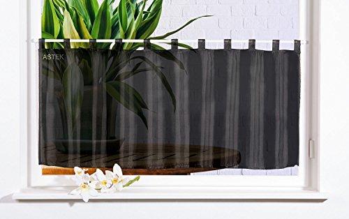 Gardinenbox Scheibengardine Uni Voile, 50x160, Schwarz, 61070