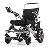 silla de ruedas eléctrica Ligera Plegable Eléctrica o Manual, Sillas eléctricas Motorizadas 20A Li-Ion Batería más Larga Conducción 25 km Alcance para discapacitados en Interiores/Exteriores