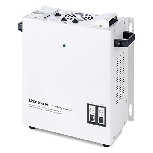 Bronson++ WTI 3000 110 Volt USA Spannungswandler Transformator zur Wandmontage 3000 Watt - In: 110V oder 220V / Out: 110V und 220V - Bronson 3000W