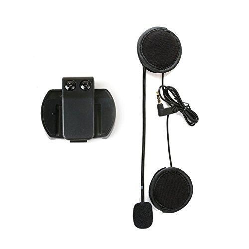 V4 V6 Accesorios del Intercomunicador del Casco de la Motocicleta, Enchufe de 3.5MM Jack Auricular del Micrófono Auriculares y Accesorio del Clip Solamente para V4 V6 Bluetooth Interphone