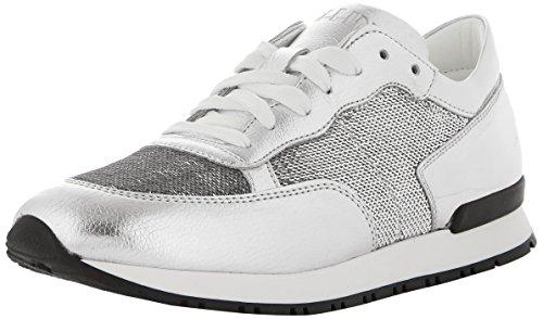 Pollini W.Sneakers, Scarpe da Ginnastica Basse Donna, Argento (Argent 90b), 39 EU