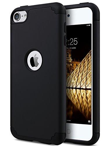 ULAK Cover iPod Touch 7, Custodia iPod Touch 6/5 Anti-Graffio e Antiurto 2in1 PC + Silicone Caso della Copertura Protettiva Cover per iPod Touch 7 / iPod Touch 6 / iPod Touch 5 Gen(Nero)