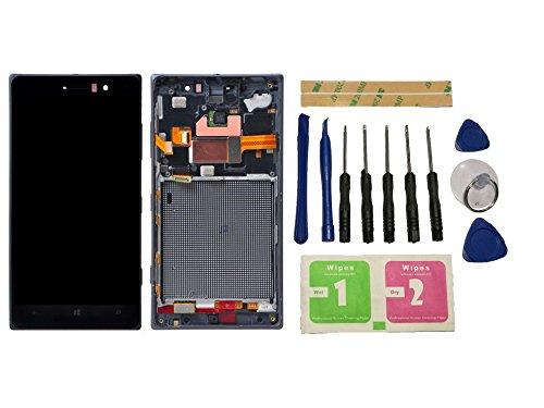 Flügel per Nokia Lumia 830 Schermo Display LCD Display Nero Touch Screen Digitizer Sostituzione Assemblea Frame di ricambio e Strumenti Gratuiti