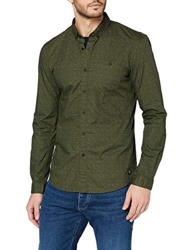 TOM TAILOR Denim Herren AOP Hemd mit Button-Down-Kragen, 21258, XL