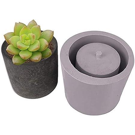 Artisanat Plantes Succulentes Moules De Vase De Jardini/ère Plante Pot De Fleurs Ciment Vase Moules Moules en Silicone pour Plantes Succulentes Et Pots De Fleurs