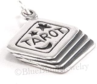 Tarot Cards Moon Star 925 Sterling Silver Halloween Fortune Teller Pendant Charm DIY Crafting by Wholesale Charms