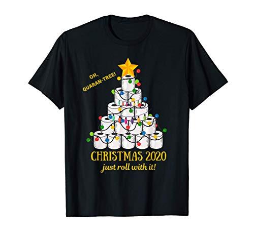 2020 Funny Quarantine Christmas Toilet Paper Tree Gift T-Shirt