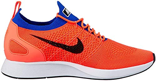 Nike Men's Air Zoom Mariah Flyknit Racer Running Shoes-Total Crimson/Black/Racer Blue-14