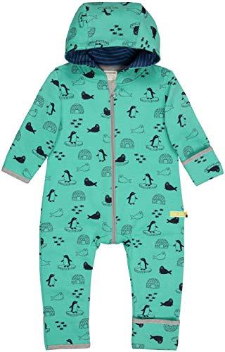 loud + proud Baby-Unisex Overall Druck Aus Bio Baumwolle, GOTS Zertifiziert Strampler, Grün (Jade Jad), 92 (Herstellergröße: 86/92)