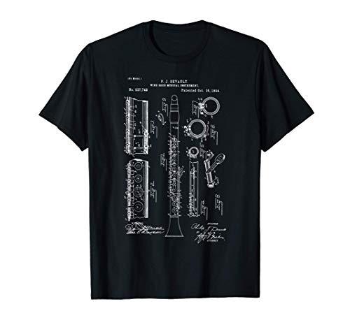 Patente de modelo de banda de marcha de músico de clarinete Camiseta