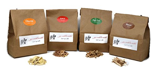 Jax Smok#039in Tinder Premium BBQ Wood Chips for Smokers Variety Pack  Our Most Popular Medium Sized Smoker Chips  Apple Post Oak Orange and Pecan Packed in 290 Liter Paper Bags